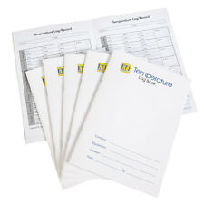 Pack of ten Food Catering Equipment Temperature A5 log 6 months of record pages