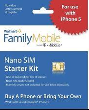 Walmart Family Mobile Sim Kit Works In Smart Phones Nano Micro Fit Unlocked