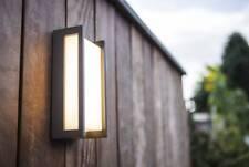 Plafón/aplique LED exterior aluminio gris oscuro