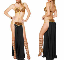 4PCS Princess Leia Slave Bikini Costume Sexy Women Star Wars Cosplay Dress