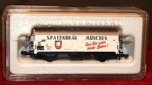 Märklin, Miniclub, Wagon Covered Beer Spatenbau, New Scale Z IN Box 8602