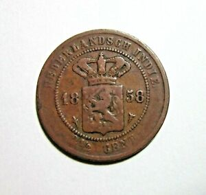 NETHERLANDS EAST INDIES. 2-1/2 CENTS, 1858.