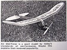 "Vintage BROOKLYN DODGER Taibi 55"" OT Free Flight Model Airplane PLAN + Article"