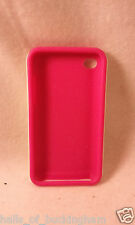 iPod Touch 4 Protective Case Hard White Shell Pink Silicone Inner Skin FREE SHPG