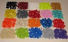LEGO COLORED 1 X 1 ROUND DOT PLATES BRICKS BUILDING BLOCKS YOU PICK 100 PER LOT