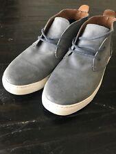 Robert Wayne Men Blue/gray Suede Leather Boots Size 9.5 D