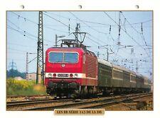 Locomotive BB Serie 143 DB Railway Chemin de Fer Train 1984 FICHE FRANCE
