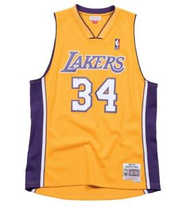 Mitchell & Ness NBA Shaquille ONeal 1999-00 Home Yellow Swingman Jersey