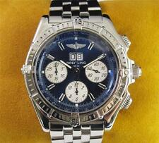 BREITLING Crosswind Windrider Chronograph Blue Mens Watch Stainless Steel A44355