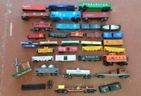 LOT OF 36 Miscellaneous Vintage Train Cars and Parts