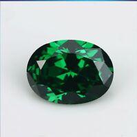 8x10mm 4.25ct Green Emerald Sapphire Oval Cut Gemstone VVS AAAAA Loose Gemstone