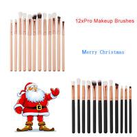 12 Pro Makeup Brush Set Foundation Powder Eyeshadow Eyeliner Lip Brush Tool