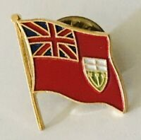 Ontario Canada Flag Lapel Pin Badge Rare Vintage (J9)