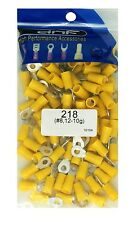 (100 PACK) 12-10 GAUGE YELLOW RING TERMINALS ELECTRICAL WIRE CONNECTORS #8