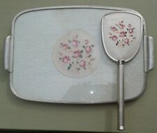 Vintage Vanity/Dressing Table set Art Deco style Silvered surround good con