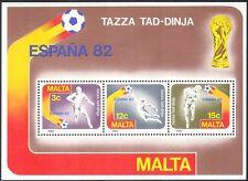 """MALTA 1982 Mondiali di Calcio/""""ESPANA' 82""""/WC/Calcio/Sport/Giochi 3 V M/S (s863)"""