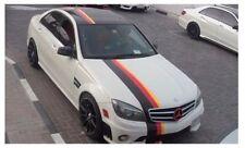 Three Color German FLAG Stripe Hood Roof Decal fits Mercedes BMW Motorsport