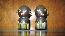 VIntage Black Americana Wood African Salt & Pepper Shakers