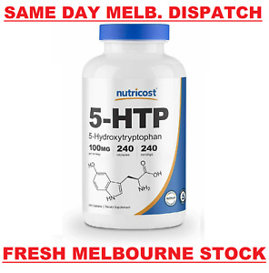 Nutricost 5 HTP 100mg 240 Caps Stress Anxiety Sleep PREMIUM Quality VALUE PACK