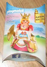 Playmobil 1974-2014 40th Feliz Cumpleaños Reina Princesa Figura Rara Del Ventilador De Corona