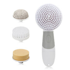 4 in 1 Electric Facial Cleanser Rotary Brush for Wash Face Spin Body Cleaning US
