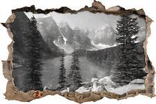 Morrena Lake Canadiense Montañas Arte Carbón Efecto - Aspecto 3d Avance