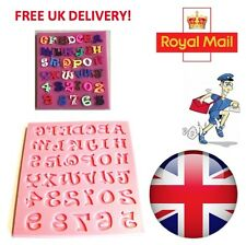 Alphabet Letter & Number Silicone Mould Fondant Cake Modelling Tools Mold UK