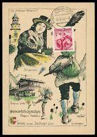 AUSTRIA MK 1950 TRACHTEN SALZBURG COSTUMES MAXIMUMKARTE MAXIMUM CARD MC CM h0735