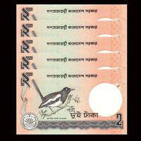 2010 p6Cn x 2 Pieces UNC Bangladesh 2 Taka