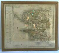 GRAVURE EN COULEUR ATLAS NATIONAL DE FRANCE GRAVE PAR D HOUDAN FINISTERE H864
