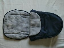 Mothercare Journey Edit Luxury Footmuff Cosytoes in Navy/Silver Grey