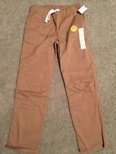 Boy's Cat & Jack Tan Elastic Waist Khaki Pants Size 12 Nwt