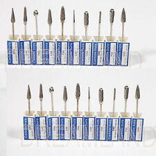 20pc Tungsten Carbide Burs 2.35mm for Dental Lab Micromotor Polishing Handpiece