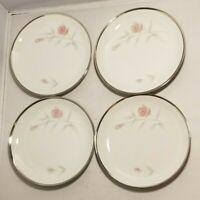Vintage Eternal Fine China Dusty Rose Vern Forbes Japan Set of 4 Dessert Plate W