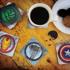 Oficial Marvel Los Vengadores 3D CONJUNTO DE POSAVASOS Lenticular - 8 Vengadores Bebidas Posavasos