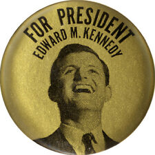 Scarce 1968 Edward Ted Kennedy for President Button ~ RFK Assassination (5303)