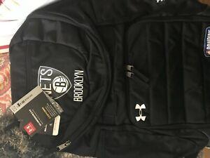 NBA BASKETBALL COMBINE Brooklyn Nets Under Armour Black Backpack - BRAND NEW
