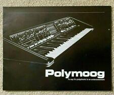 "MOOG- ""POLYMOOG""  1976 - 12 page brochure - MINT!"
