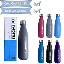 Stainless Steel Water Bottles 6 Colors 500Ml 17Oz Double Wall Keep Cold Outdoor