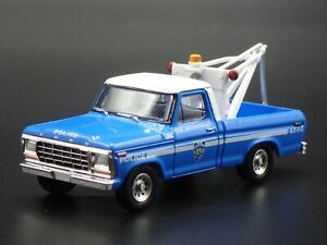 1979 79 FORD F250 WRECKER TOW TRUCK NYPD 1/64 SCALE DIORAMA DIECAST MODEL CAR