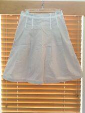 GAP STRETCH New Women's Black White Striped Cotton Spandex A-Line Skirt Sz 4 S M