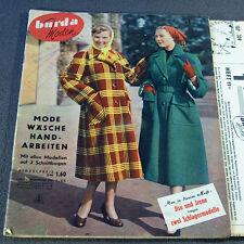 Modezeitschrift BURDA MODEN 11/1951 - 2 Schnittmuster-Bg 50er Jahre ABENDMODE