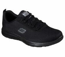 77210 Zapatos Trabajo De Skechers Womens: ghenter-bronaugh Sr Athletic Relaxed Fit, Negro
