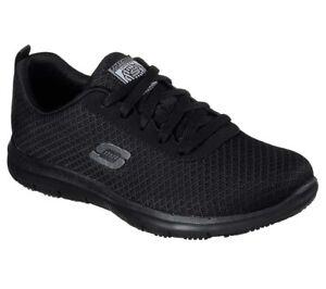 77210 Skechers Womens Work Shoes: Ghenter-Bronaugh SR Athletic Black A1