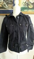 J Crew Womens Sz Small Navy Blue Military Style Jacket Blazer 100% Cotton