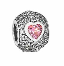 Genuine PANDORA Silver Captivating Pave Heart Charm 791815CZS ALE S925