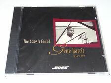 GENE HARRIS 1933-2000 The Song Is Ended RARE OOP Bose Systems Audiophile CD New