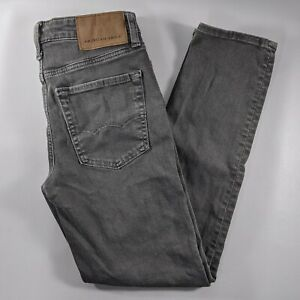 American Eagle Slim Straight Skinny Jeans Mens Size 26x28 Gray Denim