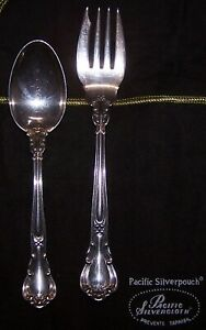 Antique Gorham PAT 1895 Chantilly Sterling Silver Salad Fork & Spoon Set