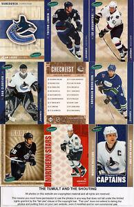 2005-06 Parkhurst by UD Vancouver Canucks Master Team Set (24)